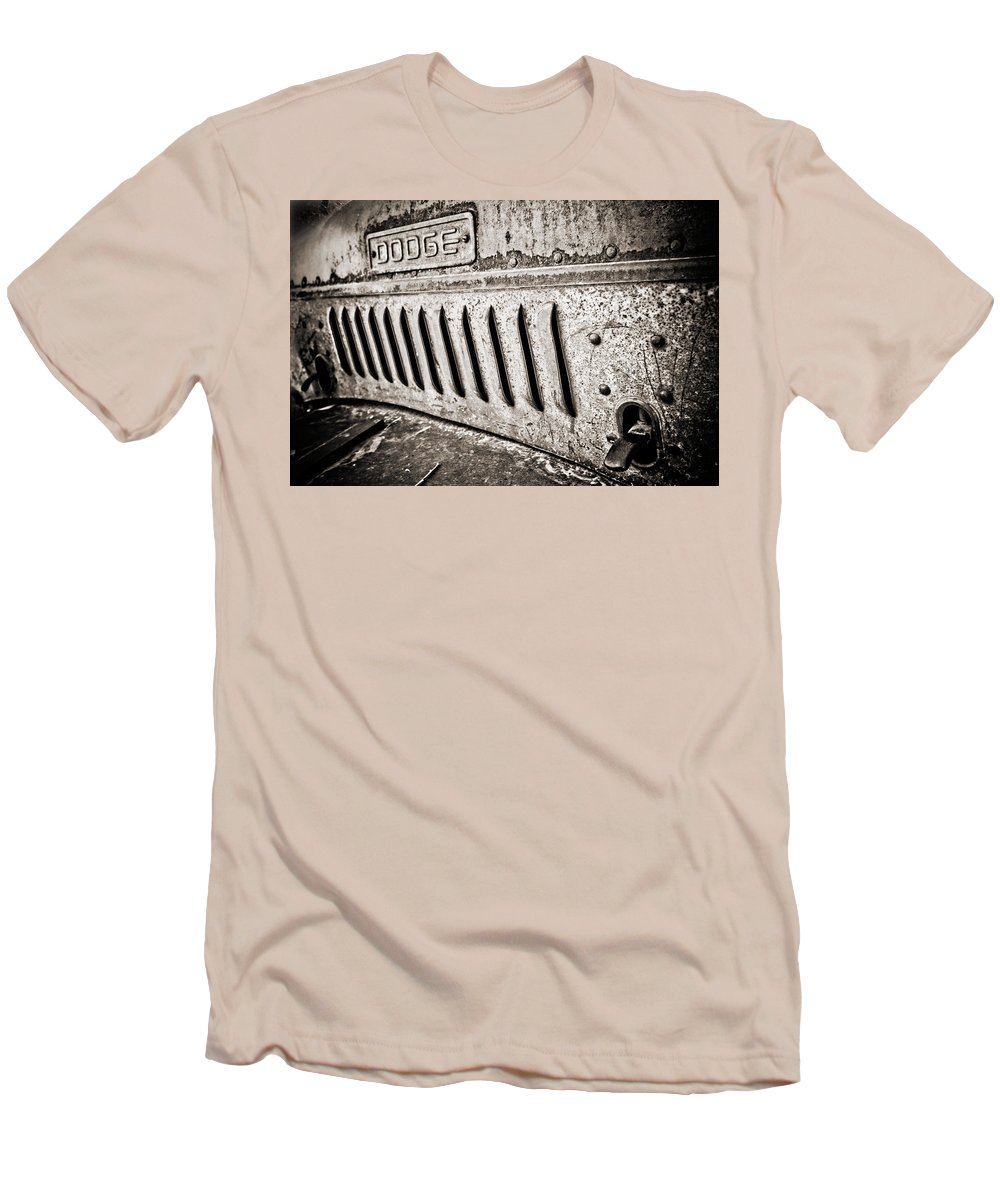 Americana Men's T-Shirt (Athletic Fit) featuring the photograph Old Dodge Grille by Marilyn Hunt
