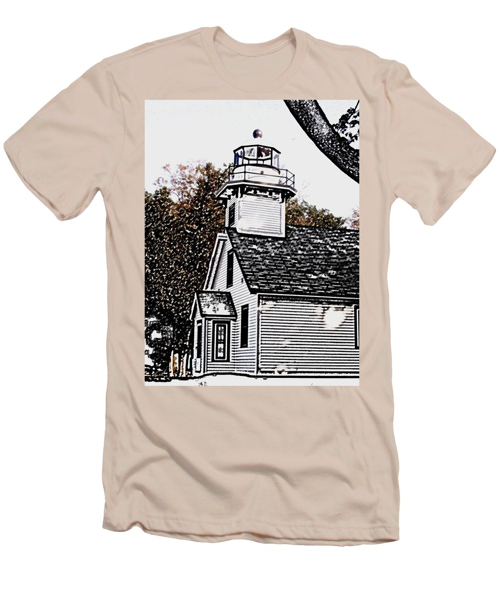 Altered Men's T-Shirt (Athletic Fit) featuring the photograph Old Mission Point by Wayne Potrafka