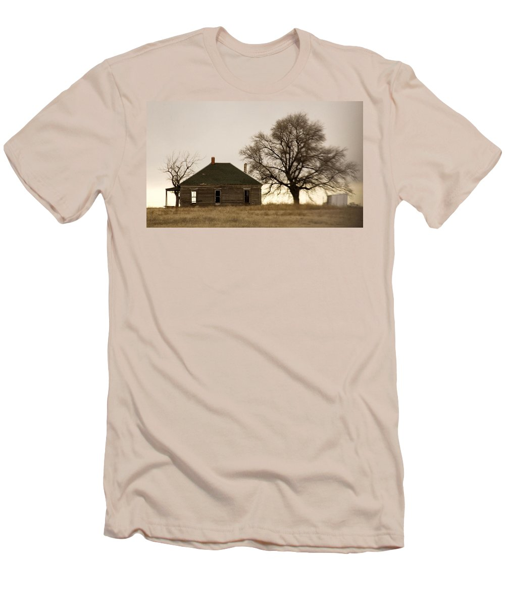 Americana Men's T-Shirt (Athletic Fit) featuring the photograph Once Upon A Time In West Texas by Marilyn Hunt