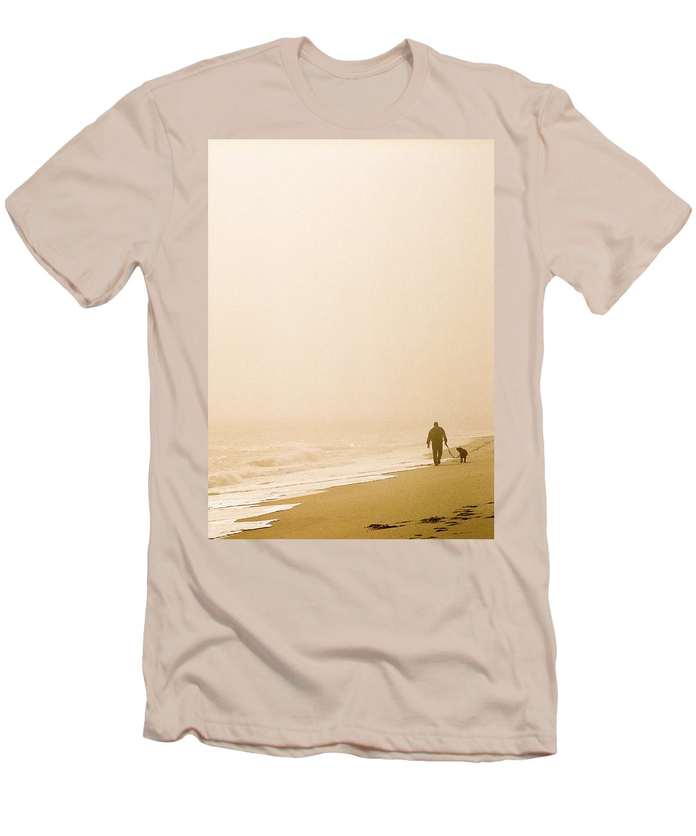 Landscape Men's T-Shirt (Athletic Fit) featuring the photograph Out Of The Mist by Steve Karol