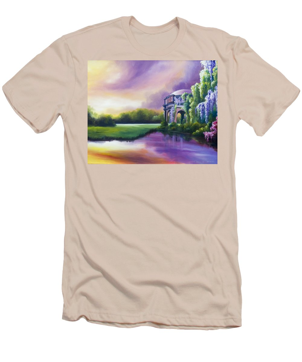 Marsh Men's T-Shirt (Athletic Fit) featuring the painting Palace Of The Arts by James Christopher Hill
