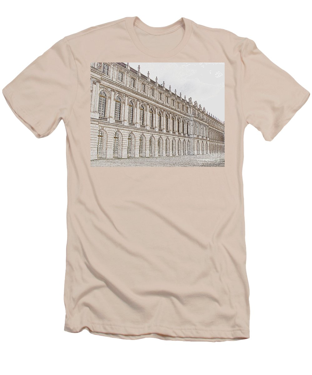 France Men's T-Shirt (Athletic Fit) featuring the photograph Palace Of Versailles by Amanda Barcon
