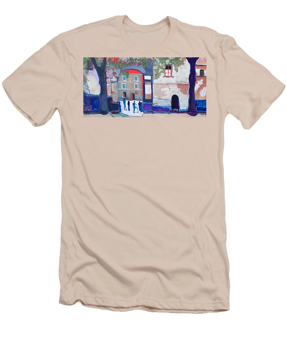Village Men's T-Shirt (Athletic Fit) featuring the painting Palazzo Di Villafranca by Kurt Hausmann