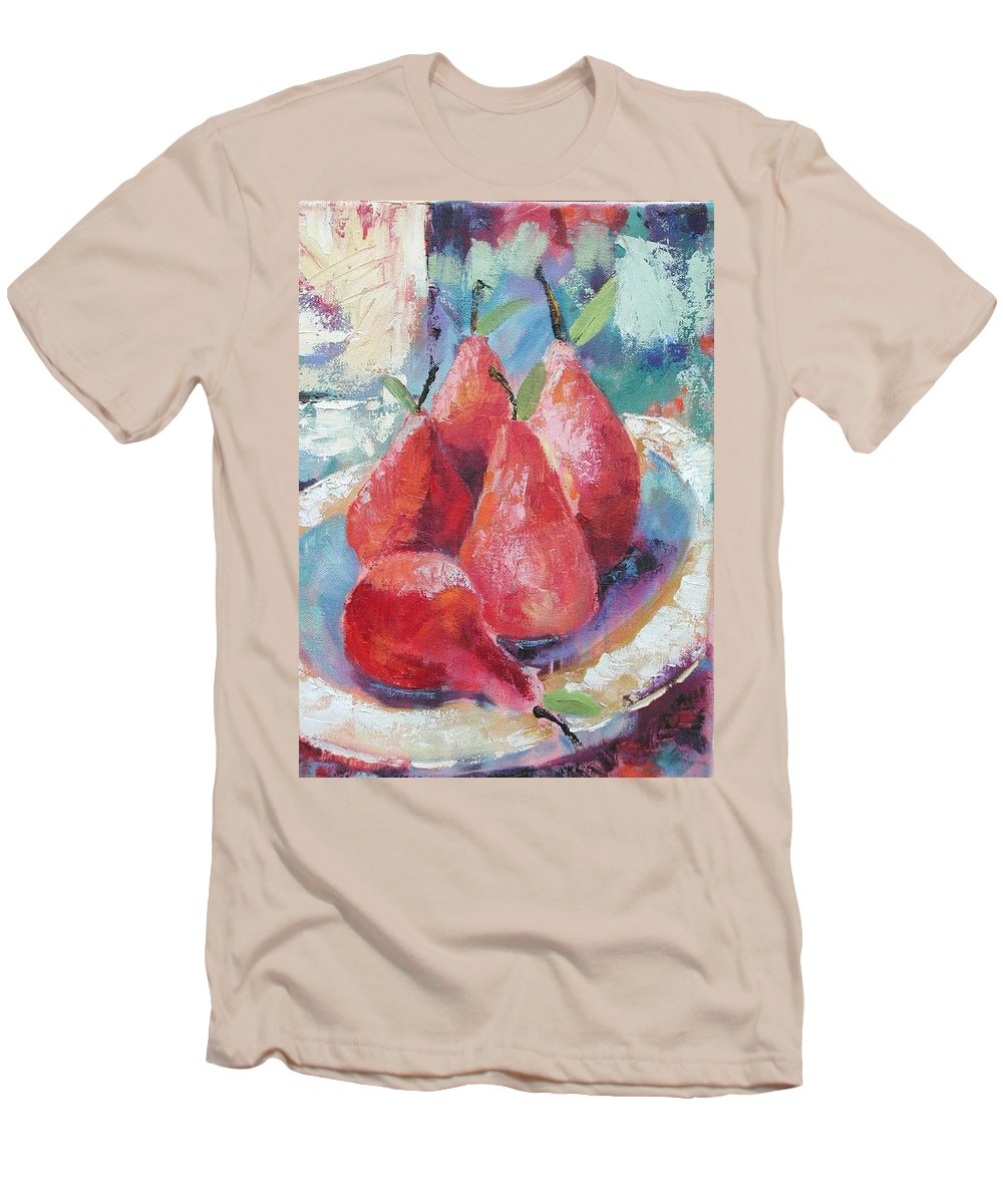 Pears Men's T-Shirt (Athletic Fit) featuring the painting Pears by Ginger Concepcion
