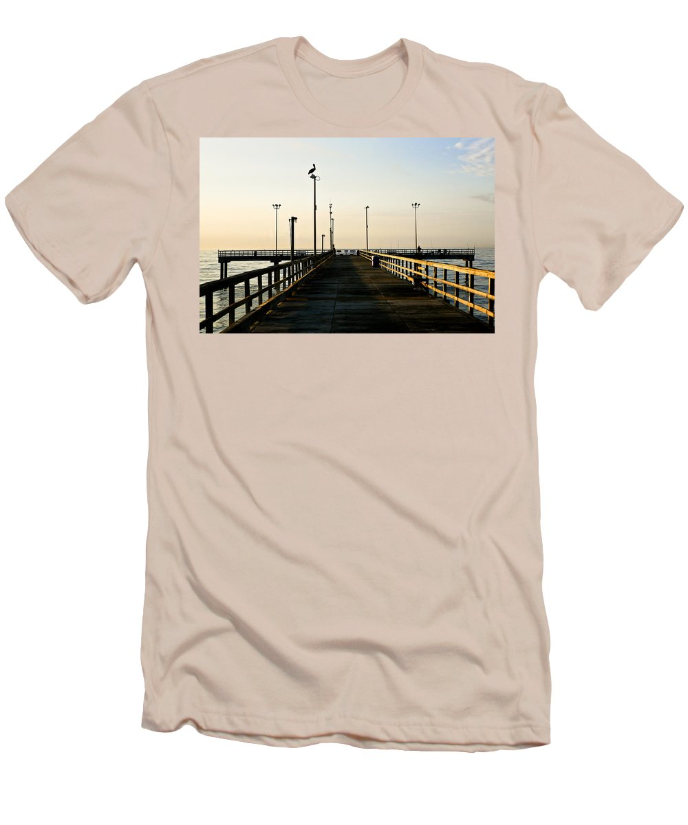 Pelican Men's T-Shirt (Athletic Fit) featuring the photograph Pelican Morning by Marilyn Hunt
