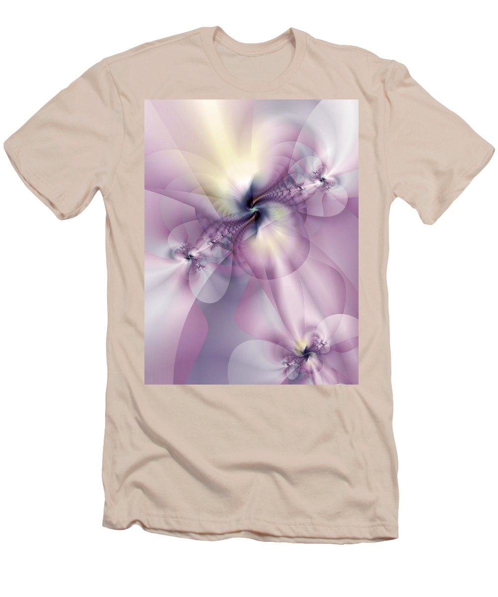 Abstract Men's T-Shirt (Athletic Fit) featuring the digital art Petals Of Pulchritude by Casey Kotas