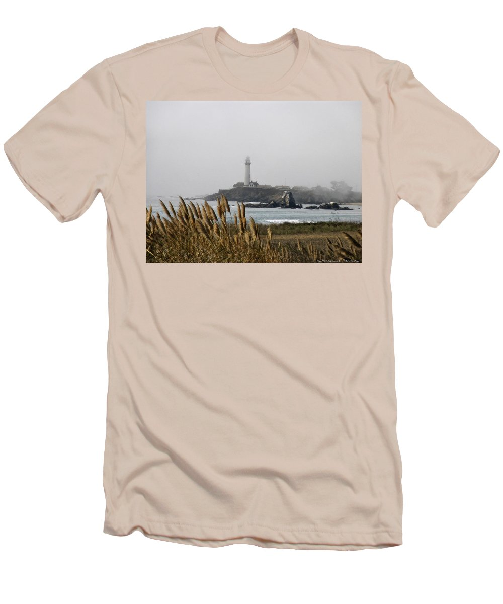 Landscape Men's T-Shirt (Athletic Fit) featuring the photograph Piegeon Point Lighthouse by Karen W Meyer