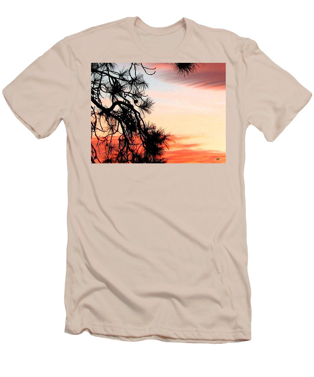 Sunset Men's T-Shirt (Athletic Fit) featuring the photograph Pine Tree Silhouette by Will Borden