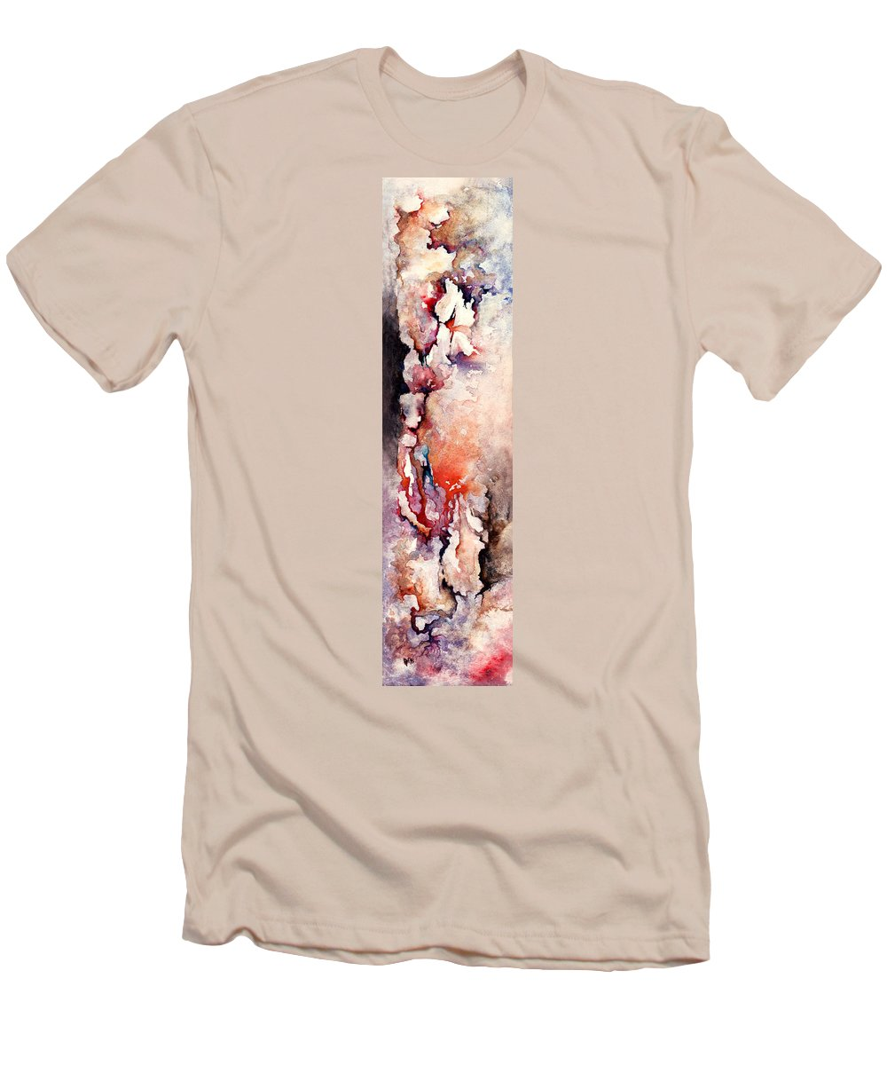 Abstract Men's T-Shirt (Athletic Fit) featuring the painting Places In The Heart by Rachel Christine Nowicki