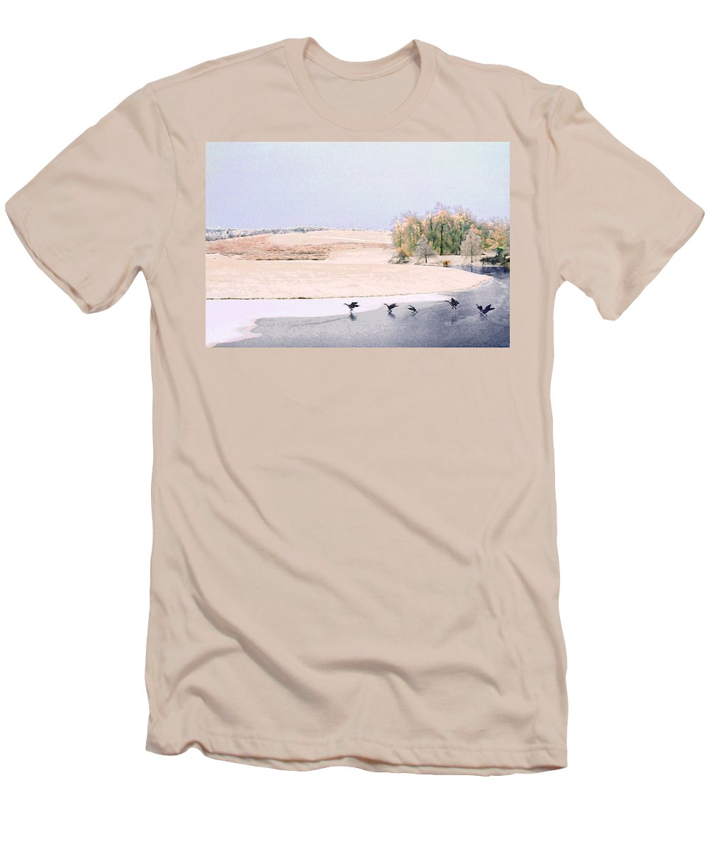 Landscape Men's T-Shirt (Athletic Fit) featuring the photograph Powell Gardens In Winter by Steve Karol