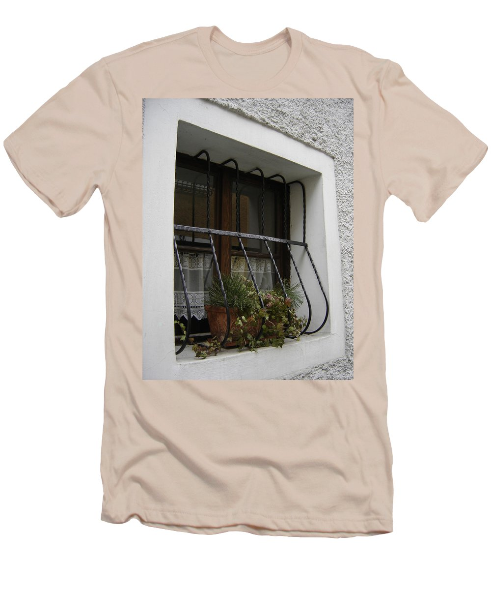 Window Men's T-Shirt (Athletic Fit) featuring the photograph Pretty Window by Mary Rogers