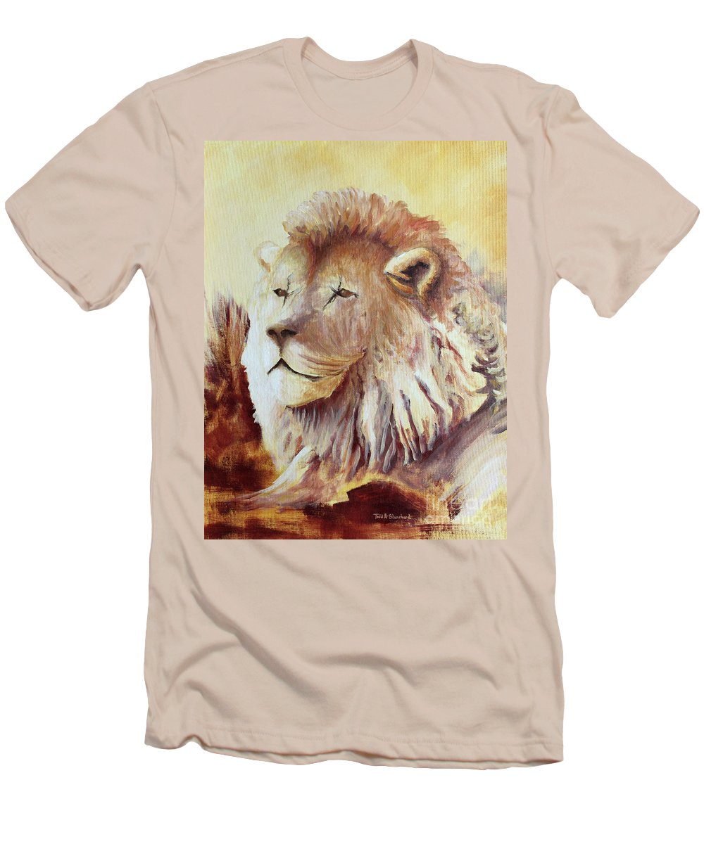 Animal Men's T-Shirt (Athletic Fit) featuring the painting Proud by Todd Blanchard