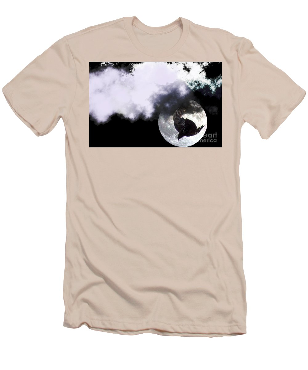 Clay Men's T-Shirt (Athletic Fit) featuring the photograph Raven Moon by Clayton Bruster