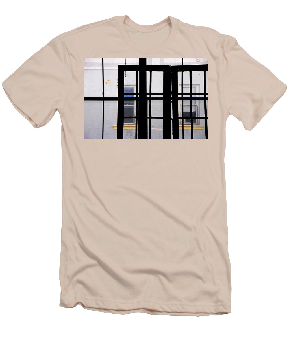 Skip Hunt Men's T-Shirt (Athletic Fit) featuring the photograph Rear Window 1 by Skip Hunt