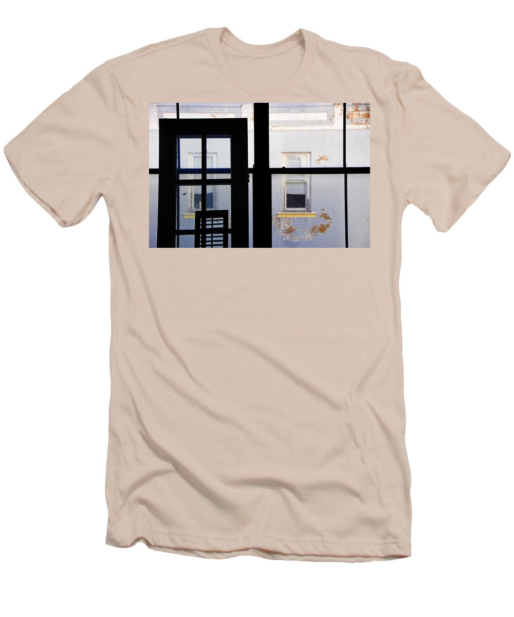 Architecture Men's T-Shirt (Athletic Fit) featuring the photograph Rear Window 3 by Skip Hunt