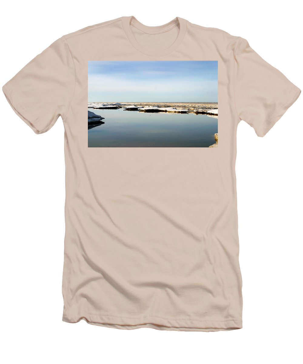 Ocean Men's T-Shirt (Athletic Fit) featuring the photograph River To The Arctic Ocean by Anthony Jones