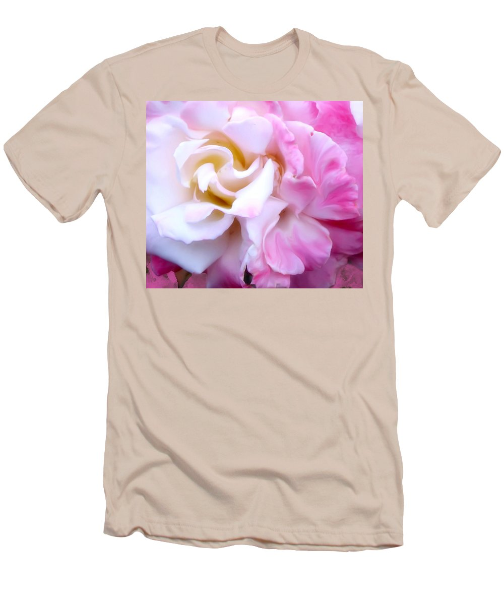 Flowers Men's T-Shirt (Athletic Fit) featuring the photograph Rose by Karen W Meyer