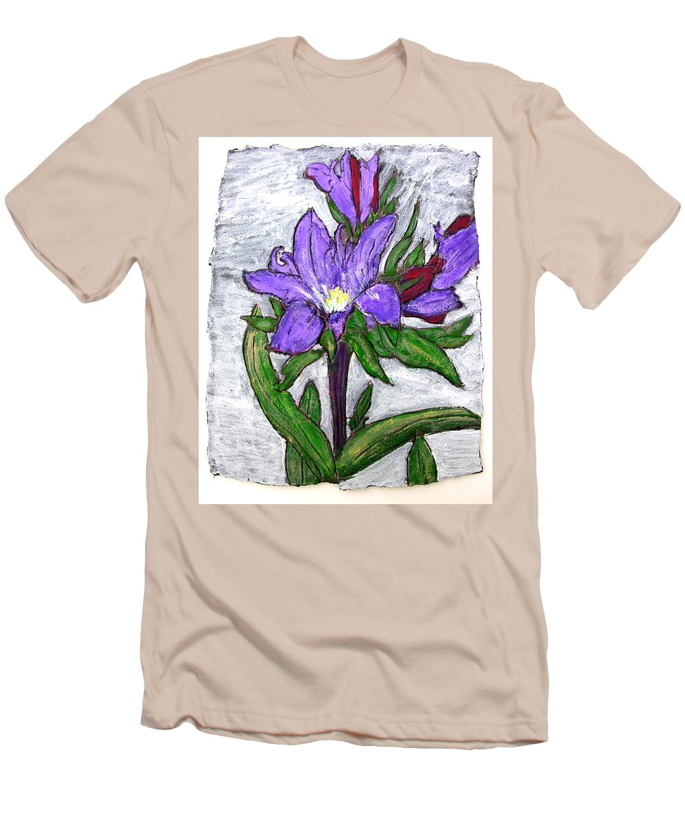 Flower Men's T-Shirt (Athletic Fit) featuring the painting Royalty by Wayne Potrafka