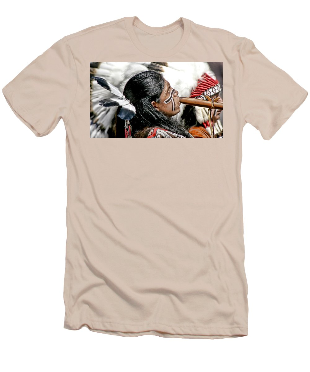 American Indian Men's T-Shirt (Athletic Fit) featuring the photograph Sacred Flute by Donovan Torres