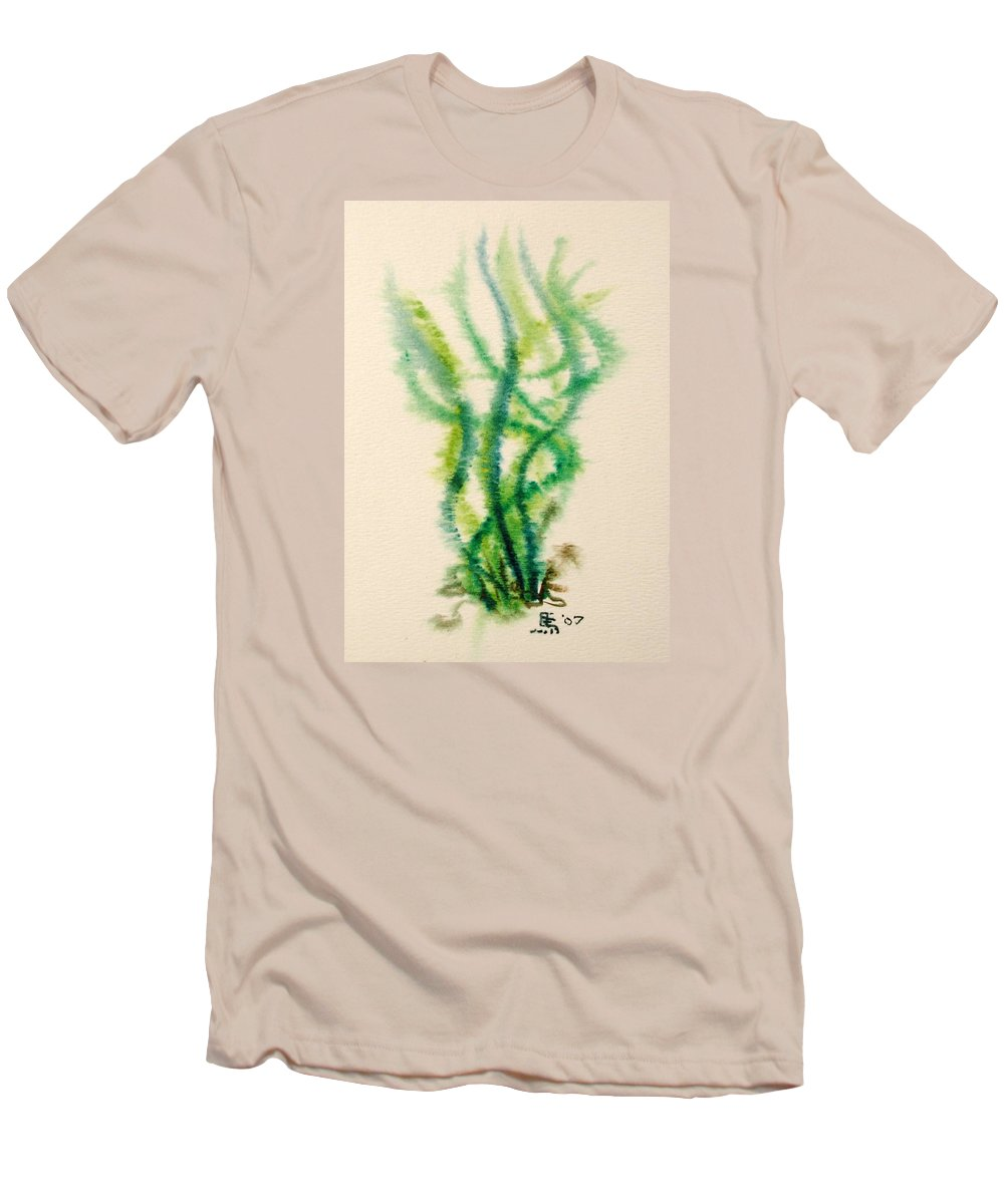 Sea Men's T-Shirt (Athletic Fit) featuring the painting Sea Bed One by Dave Martsolf
