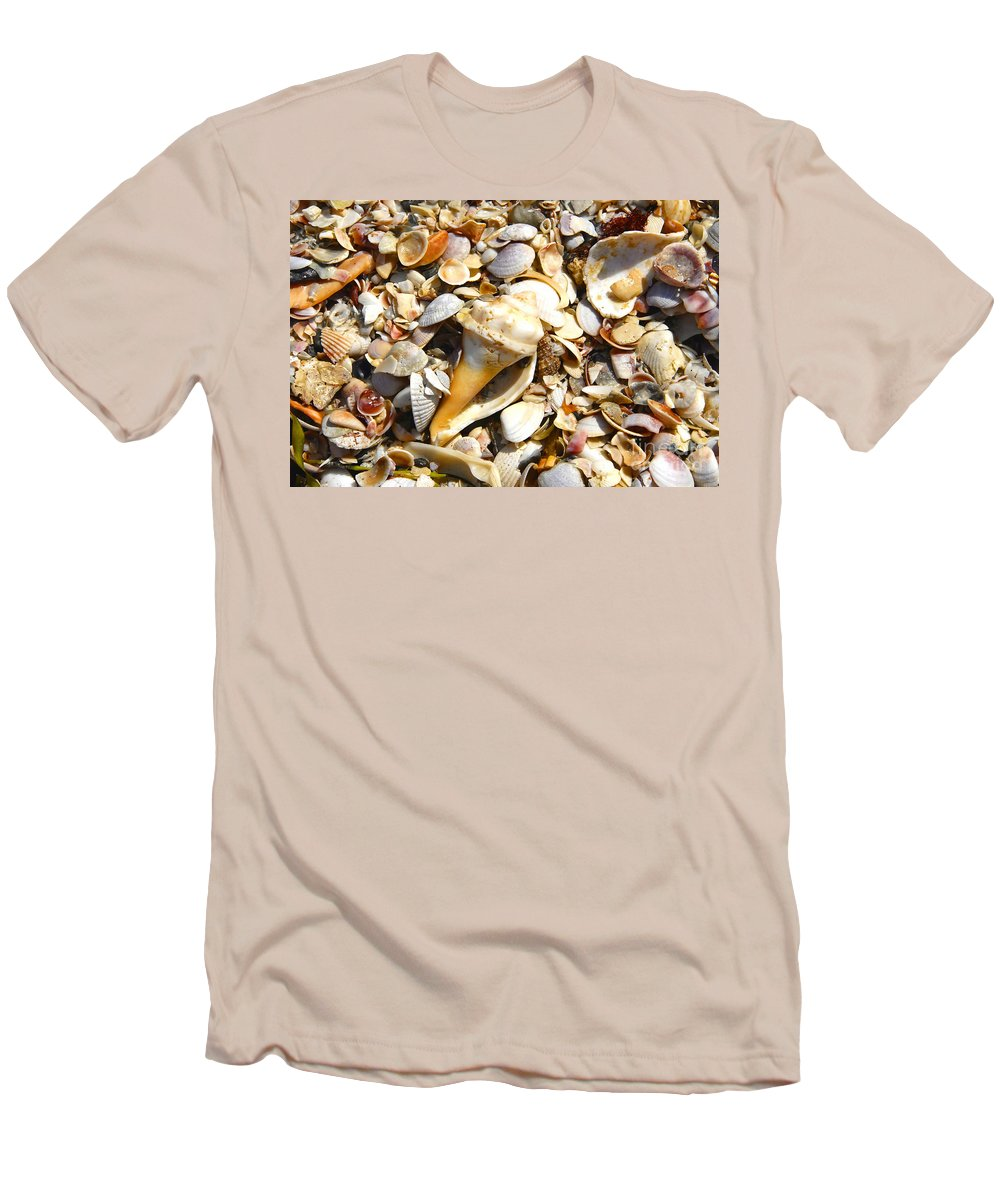 Florida Men's T-Shirt (Athletic Fit) featuring the photograph Sea Shells by David Lee Thompson