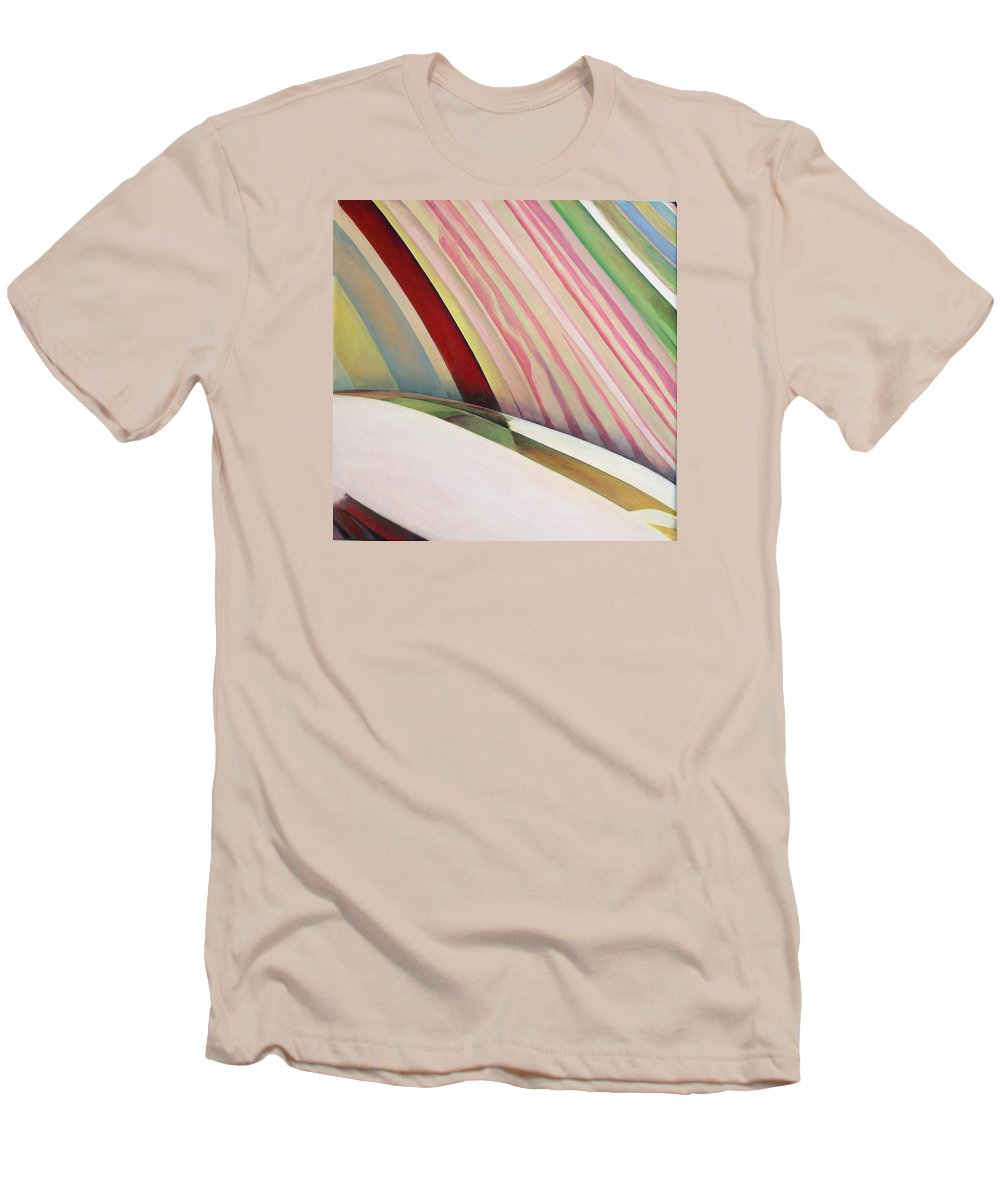Abstract Men's T-Shirt (Athletic Fit) featuring the painting Sens 1 by Muriel Dolemieux