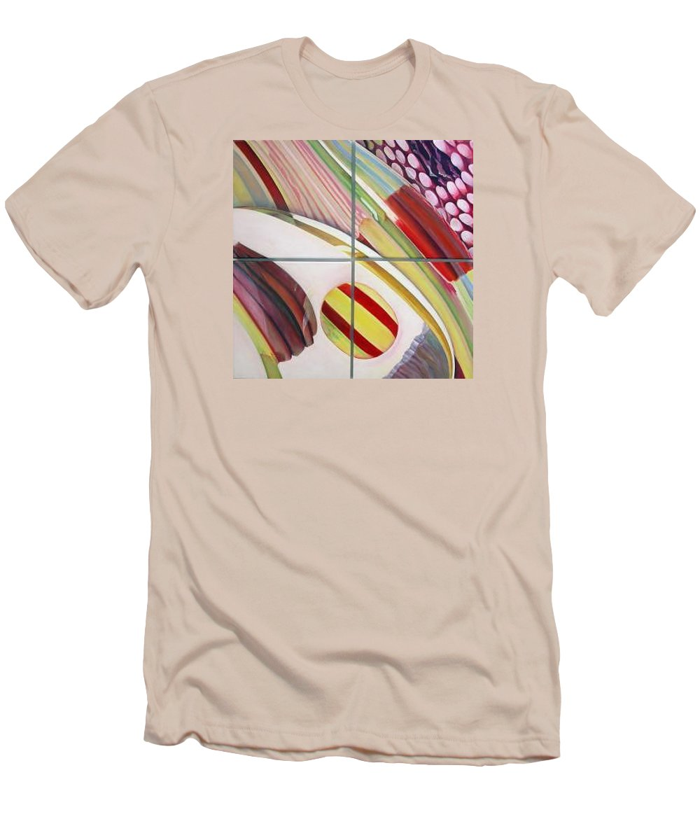 Abstract Men's T-Shirt (Athletic Fit) featuring the painting Sens by Muriel Dolemieux