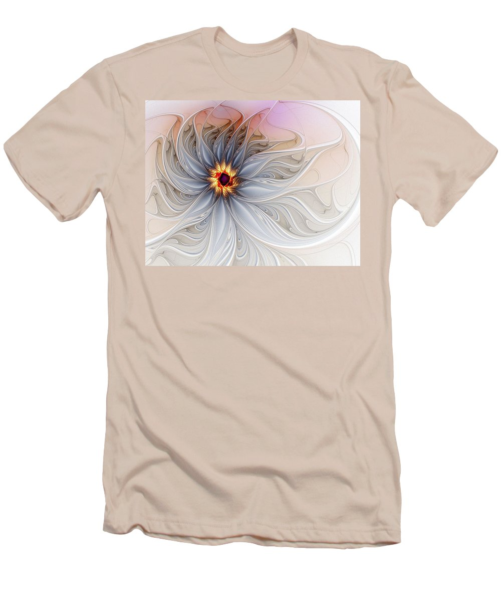 Digital Art Men's T-Shirt (Athletic Fit) featuring the digital art Serenely Blue by Amanda Moore