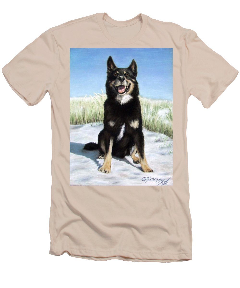 Dog Men's T-Shirt (Athletic Fit) featuring the pastel Shepherd Mix Timmy by Nicole Zeug