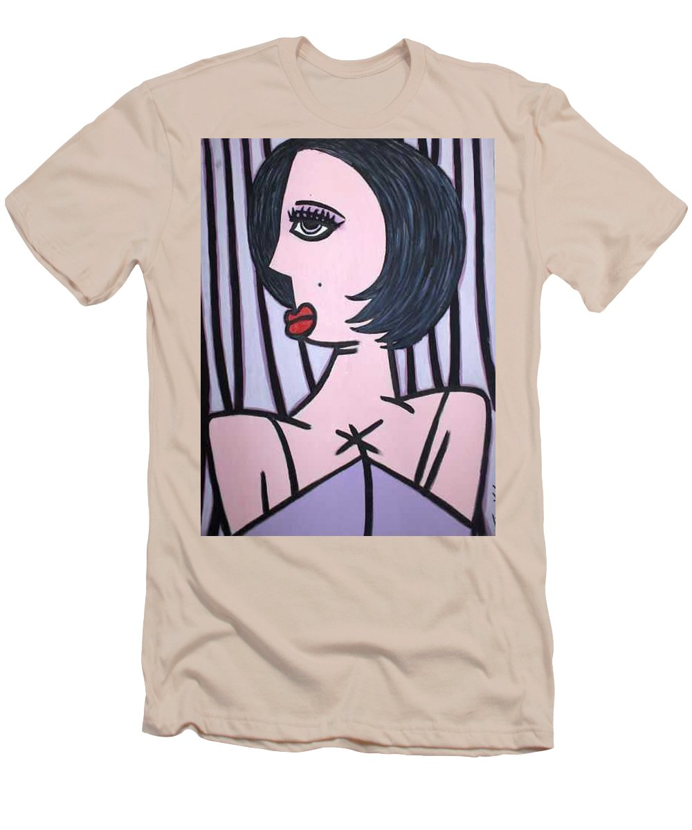 Potrait Men's T-Shirt (Athletic Fit) featuring the painting Show Girl by Thomas Valentine