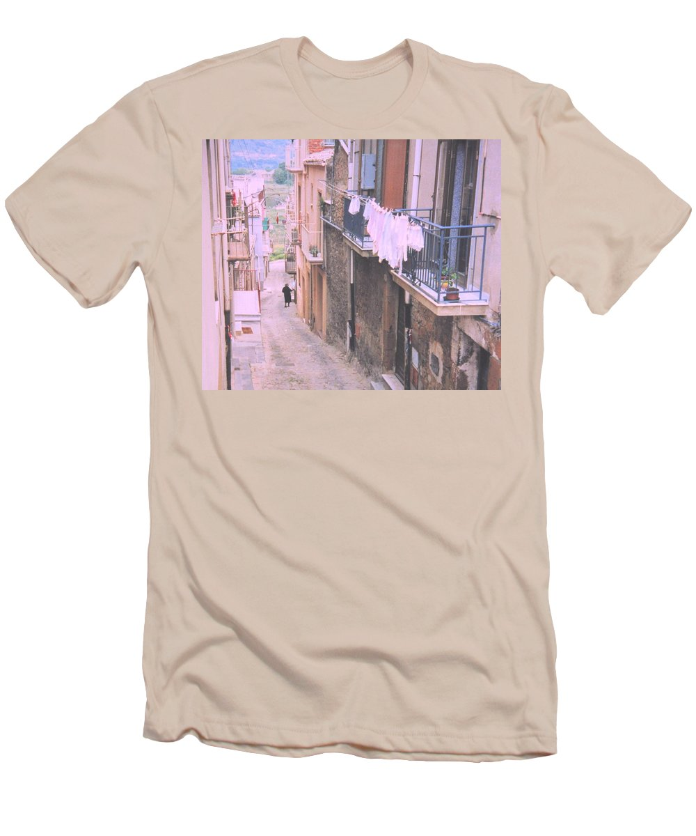 Sicily Men's T-Shirt (Athletic Fit) featuring the photograph Sicily by Ian MacDonald