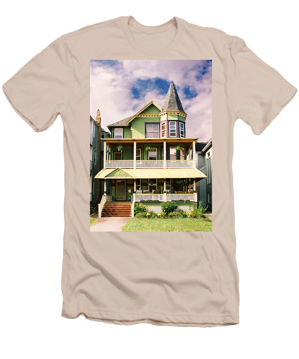 Archtiecture Men's T-Shirt (Athletic Fit) featuring the photograph Sisters Panel 1 Of Triptych by Steve Karol
