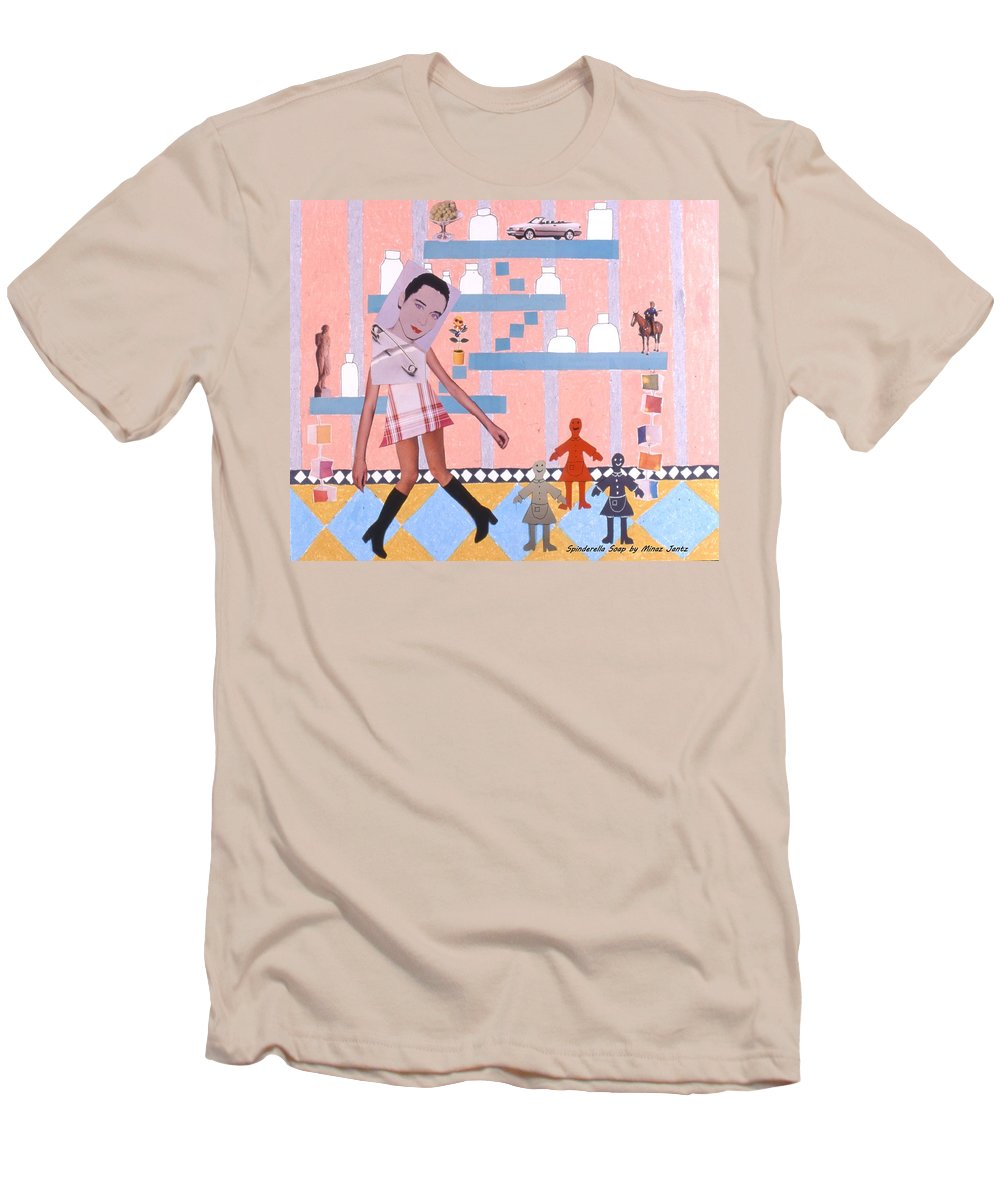 Cowboy Men's T-Shirt (Athletic Fit) featuring the drawing Soap Scene #16 Miracle Maids by Minaz Jantz