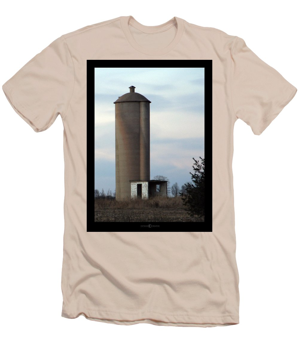 Silo Men's T-Shirt (Athletic Fit) featuring the photograph Solo Silo by Tim Nyberg