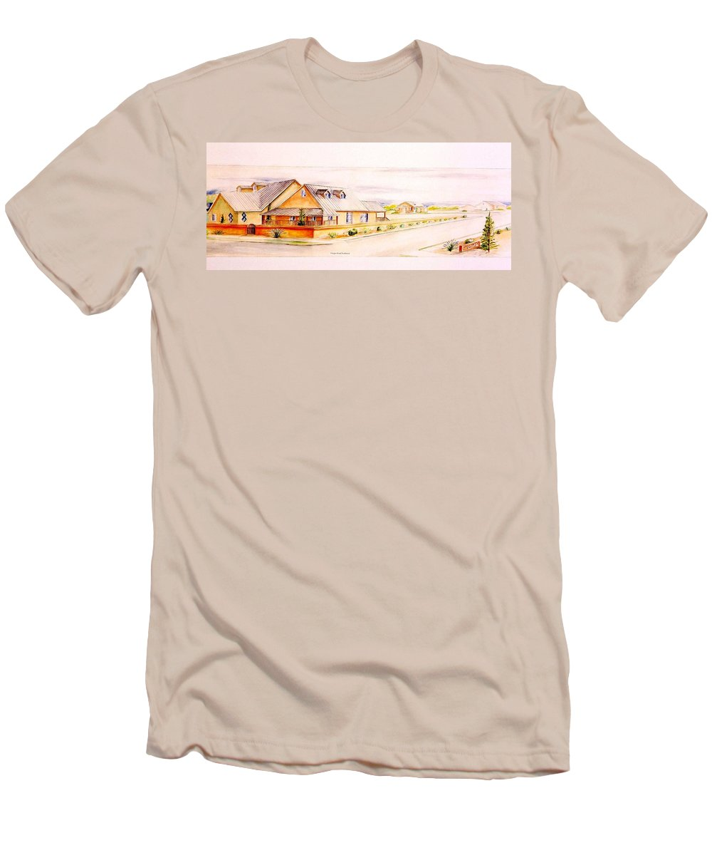 Architectural Renderings Men's T-Shirt (Athletic Fit) featuring the painting Subdivison Rendering by Eric Schiabor