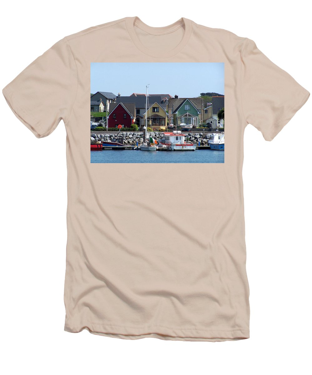 Irish Men's T-Shirt (Athletic Fit) featuring the photograph Summer Cottages Dingle Ireland by Teresa Mucha