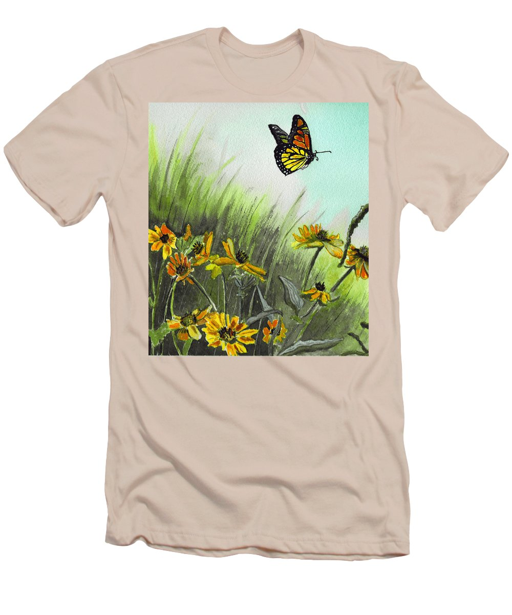 Landscape Men's T-Shirt (Athletic Fit) featuring the painting Summer Flight by Brenda Owen