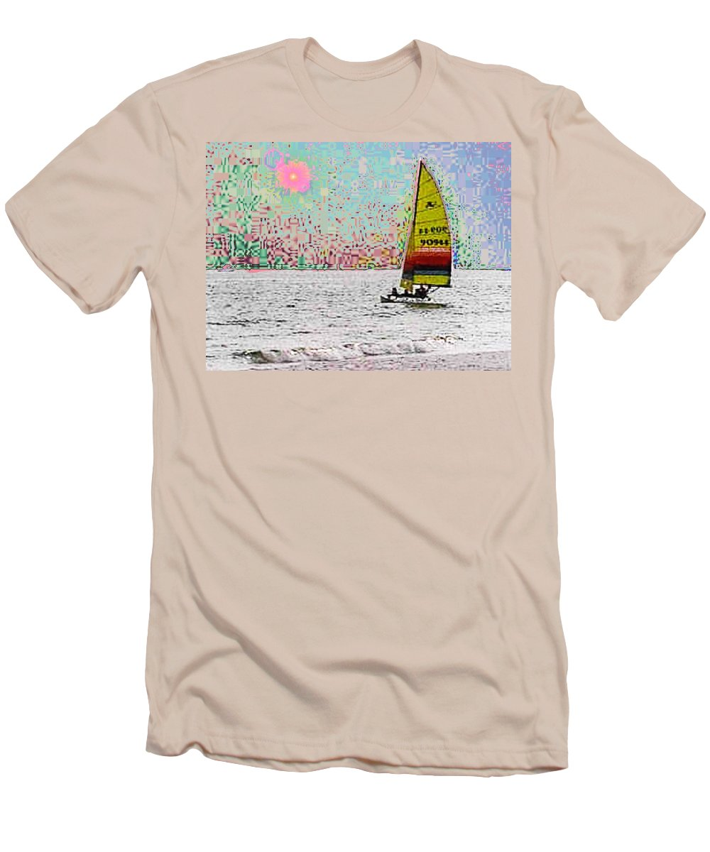 Sail Men's T-Shirt (Athletic Fit) featuring the photograph Summer Sailin by Tim Allen