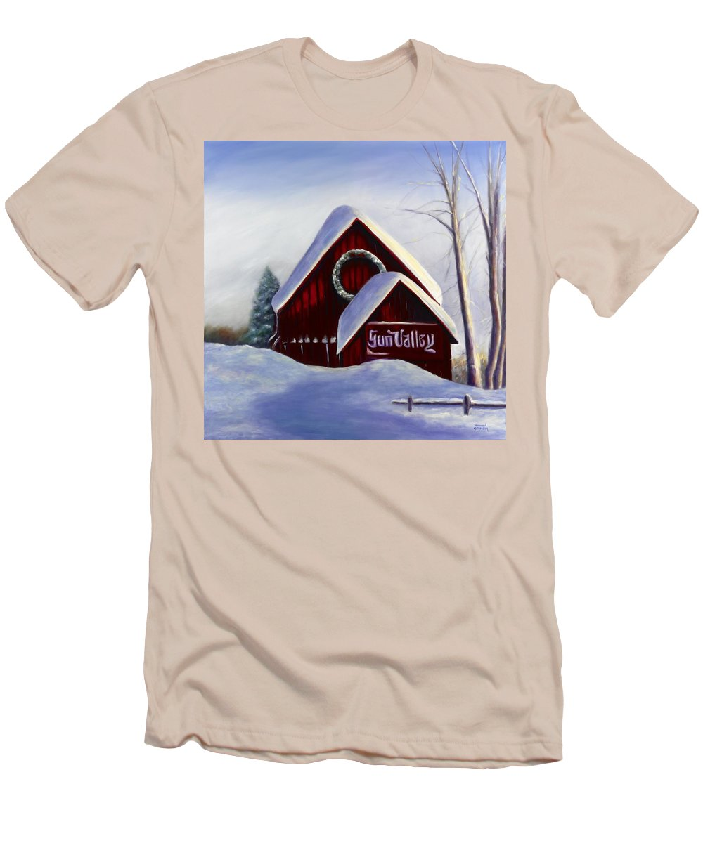 Landscape Men's T-Shirt (Athletic Fit) featuring the painting Sun Valley 3 by Shannon Grissom