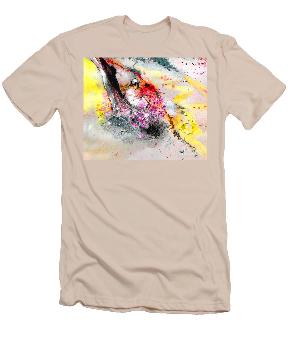 Pastel Painting Men's T-Shirt (Athletic Fit) featuring the painting Sunday By The Tree by Miki De Goodaboom