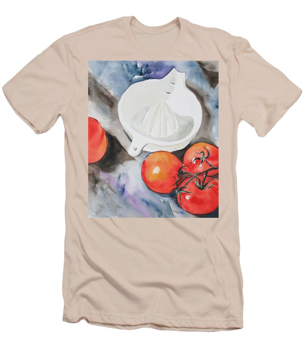 Tomatoes Men's T-Shirt (Athletic Fit) featuring the painting Sunshine On The Vine by Jean Blackmer