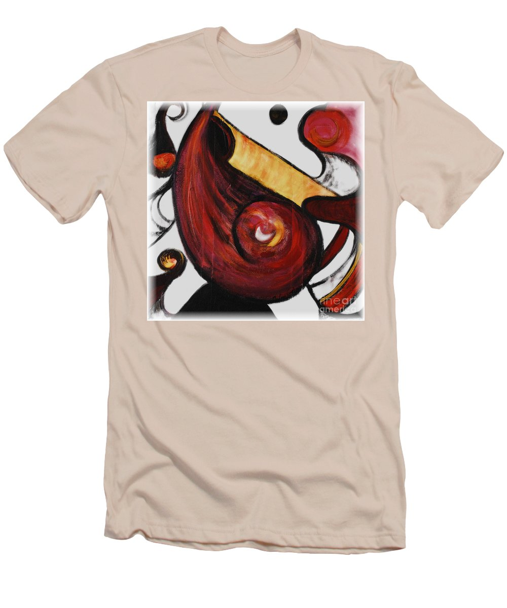 Survivor Men's T-Shirt (Athletic Fit) featuring the painting Survivor by Nadine Rippelmeyer