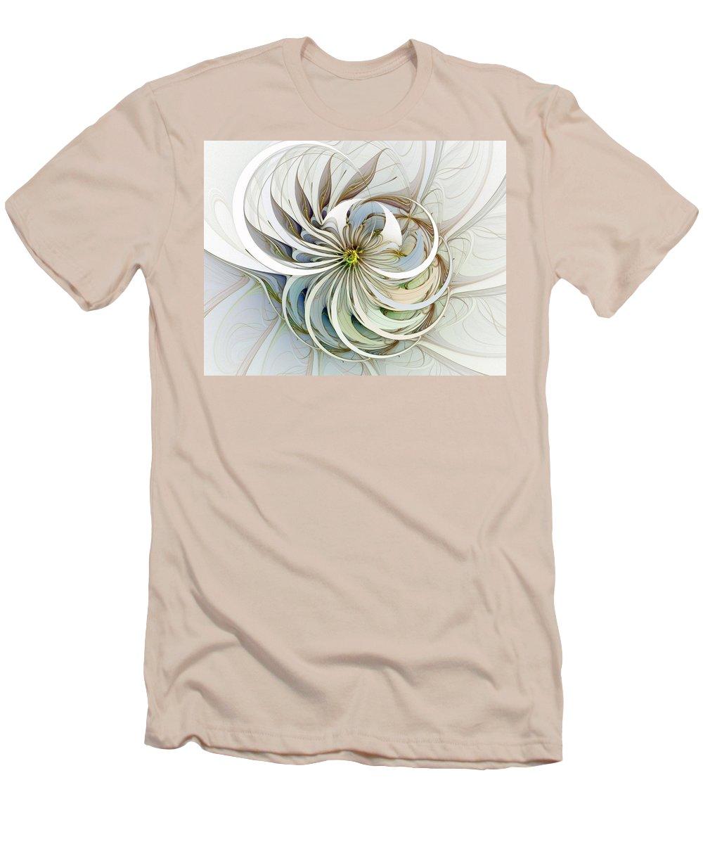 Digital Art Men's T-Shirt (Athletic Fit) featuring the digital art Swirling Petals by Amanda Moore
