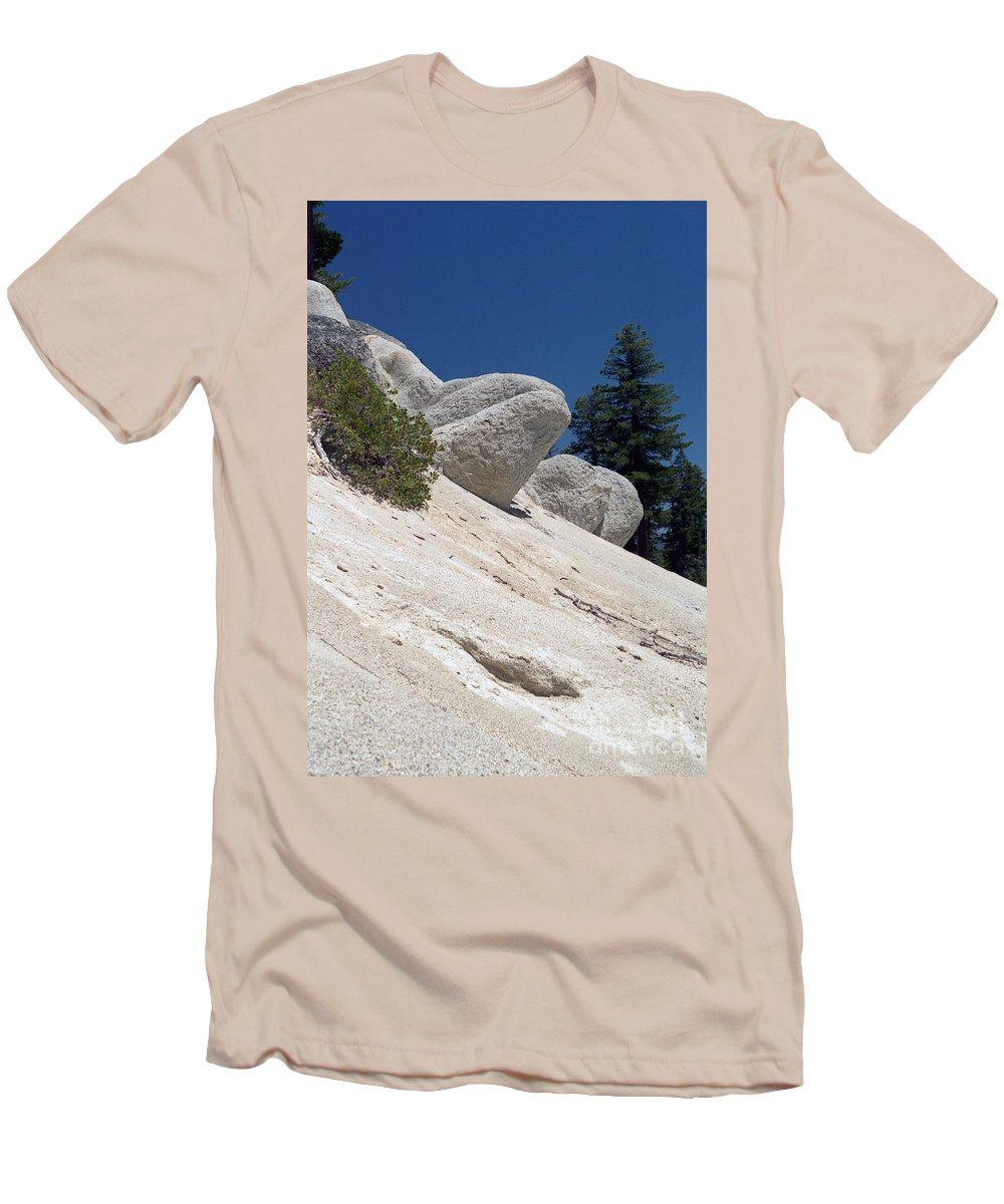 Abstract Men's T-Shirt (Athletic Fit) featuring the photograph Tahoe Rocks by Richard Rizzo