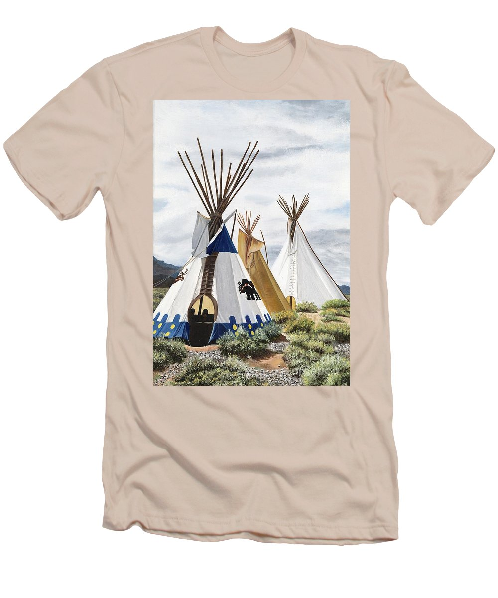 Art Men's T-Shirt (Athletic Fit) featuring the painting Taos by Mary Rogers