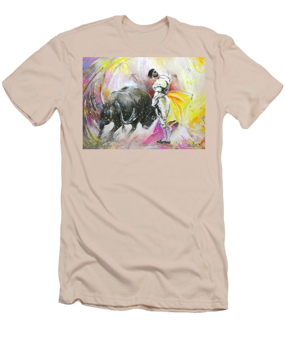 Animals Men's T-Shirt (Athletic Fit) featuring the painting Taurean Power by Miki De Goodaboom