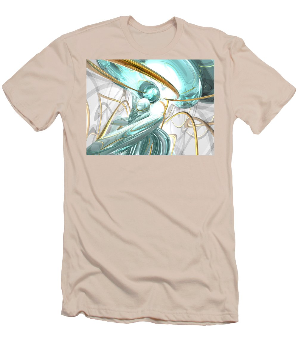 3d Men's T-Shirt (Athletic Fit) featuring the digital art Teary Dreams Abstract by Alexander Butler