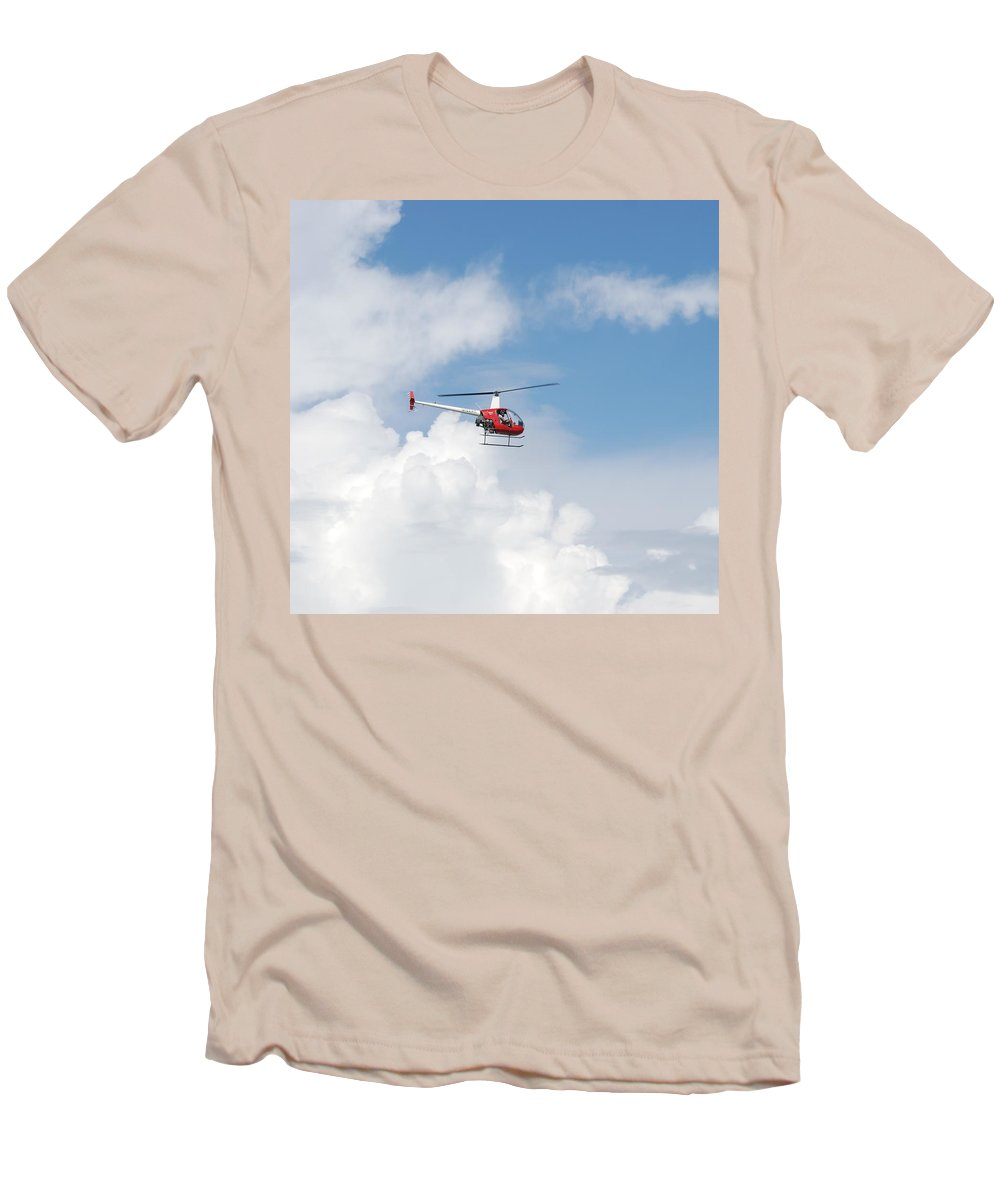Helocopter Men's T-Shirt (Athletic Fit) featuring the photograph The Chopper by Rob Hans