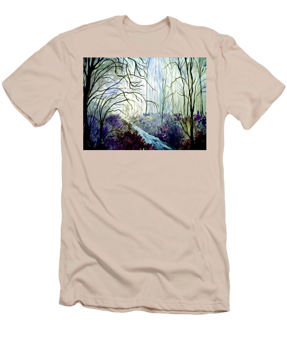 Watercolor Men's T-Shirt (Athletic Fit) featuring the painting The Path by Brenda Owen