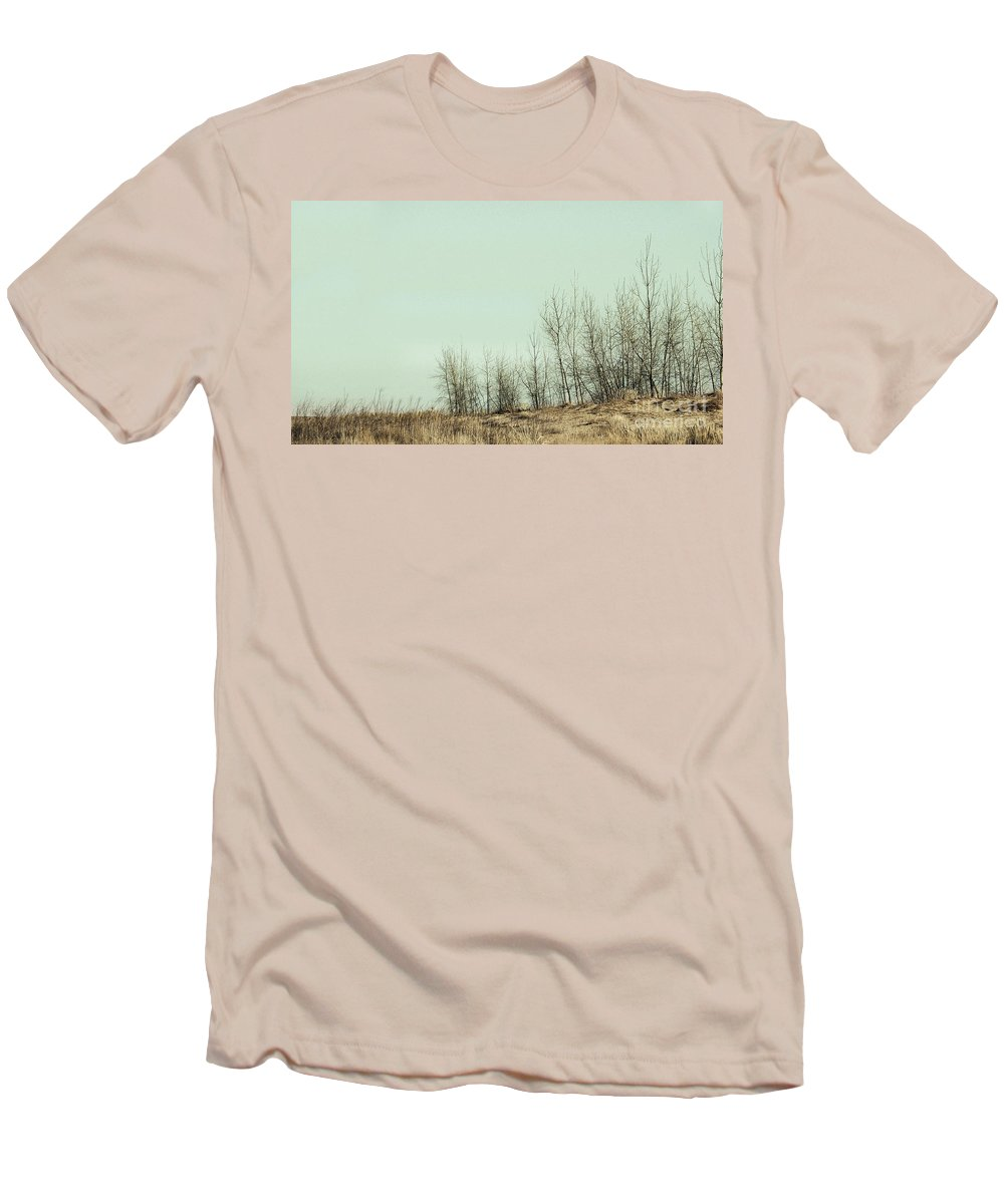 Trees Men's T-Shirt (Athletic Fit) featuring the photograph The Things We Should Have Done To End Up Somewhere Else by Dana DiPasquale
